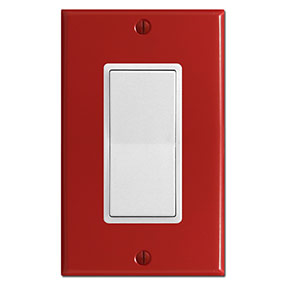 Red Switch Plates Red Outlet Covers Decora Rocker Wall Switchplates