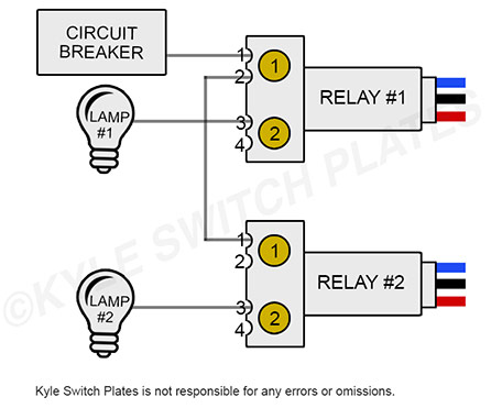 Wiring 2 or more GE low voltage relays