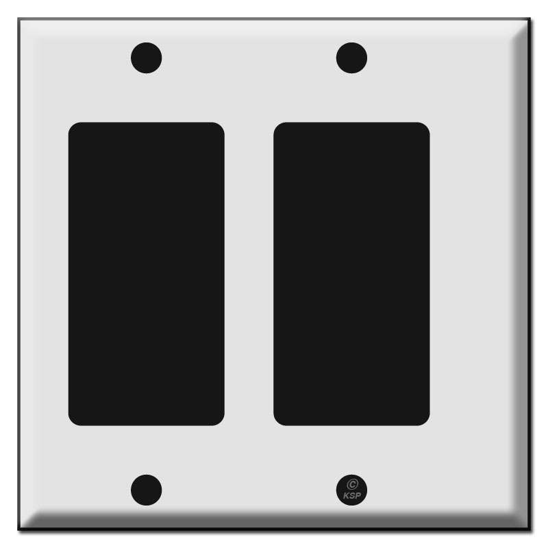 Half narrow 2 rocker switch plate
