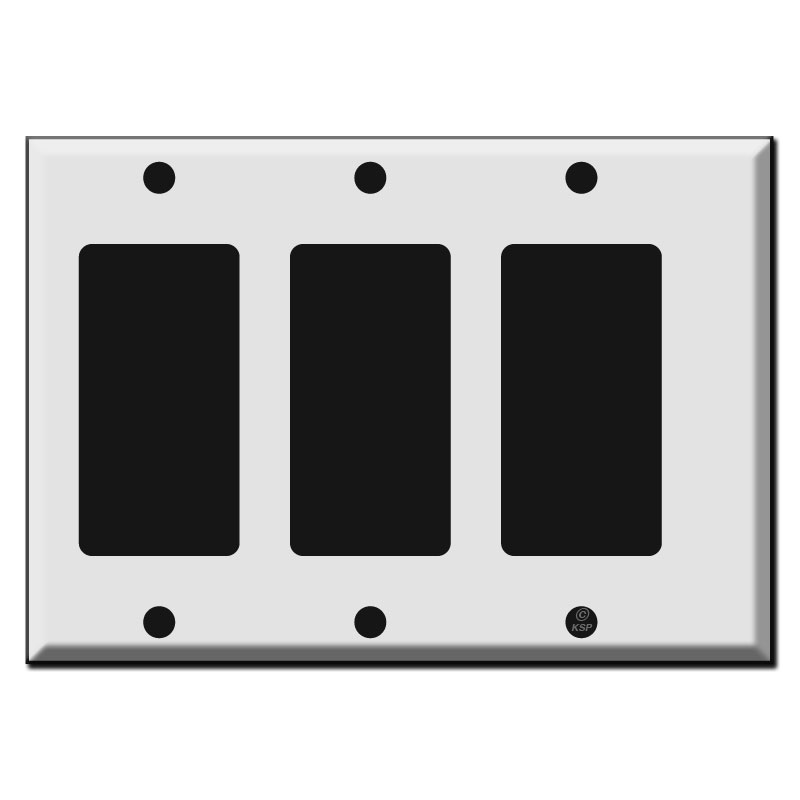 Buy half narrow 3 Decora rocker switch plate cover