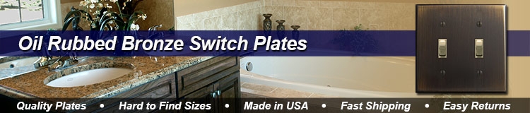 Oil Rubbed Bronze Switch Plates