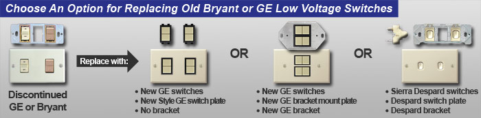 options for replacing bryant ge low voltage lighting banner?t=1402427124 ge low voltage light switches, low voltage light switch covers, relays low voltage relay wiring diagram at panicattacktreatment.co
