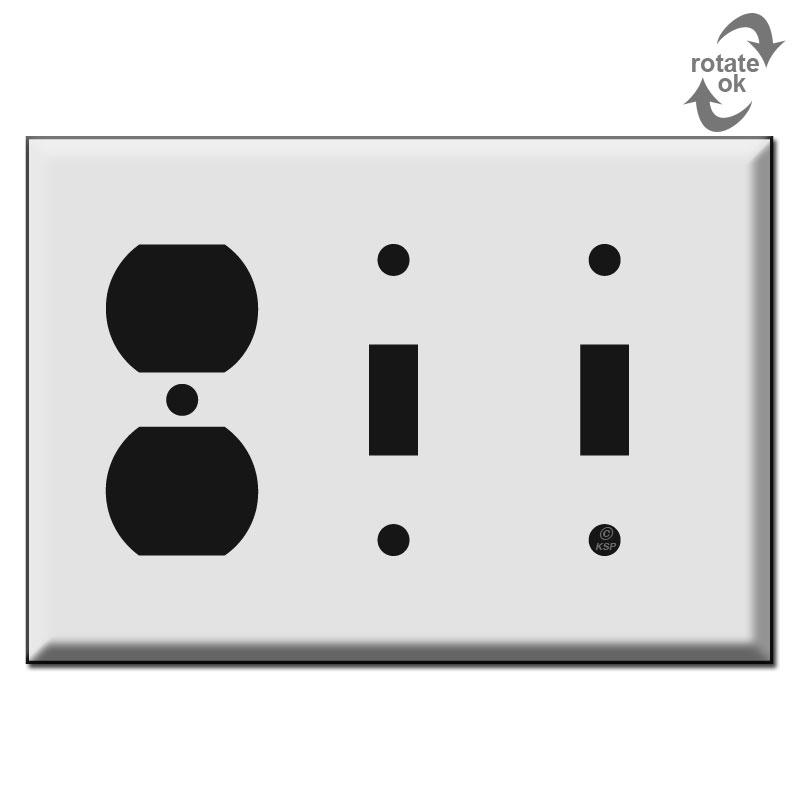 2 Toggle 1 Duplex Switch Plate