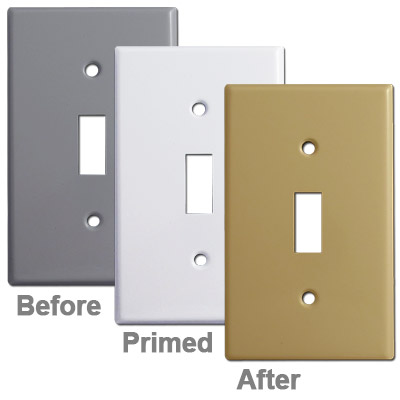 Guide for Painting Light Switch Plates