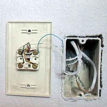 phone jack install 2 telephone jack installation instructions & photo guide modular telephone jack wiring diagram at aneh.co