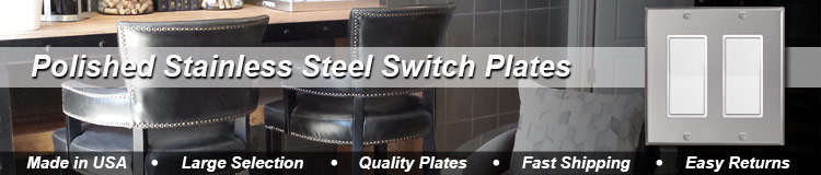 Polished Stainless Steel Wall Plates