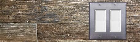 Raw Steel Wall Switch Plates