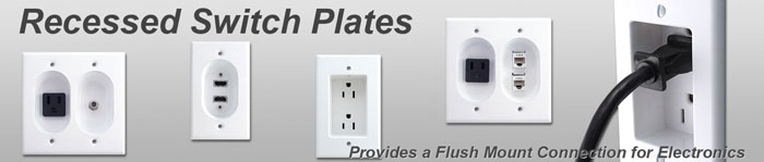 Outlet Plates Recessed Wall Switch Plates Inset Outlet Plug Covers