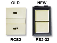 GE low voltage switches old RCS2 new RS232