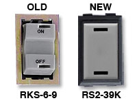 GE low voltage switches old RKS-6-9 new RS239K