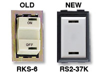GE low voltage switches old RKS-6 new RS232K