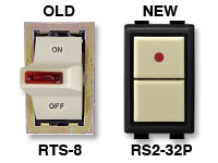 RS2-32P replacement for low voltage GE switch RTS-8