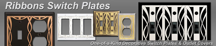 decorative ribbon swirl switch plates - Decorative Switch Plates