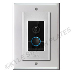 Ring Elite Doorbell Mounted on Intercom Speaker Cover