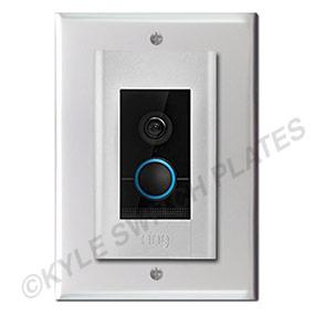 Ring Elite Doorbell Mounted on Intercom Speaker Cover