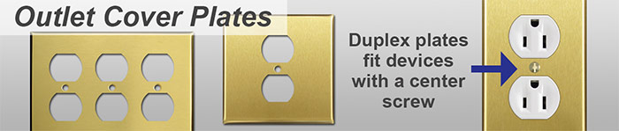 Satin Brass Outlet Covers