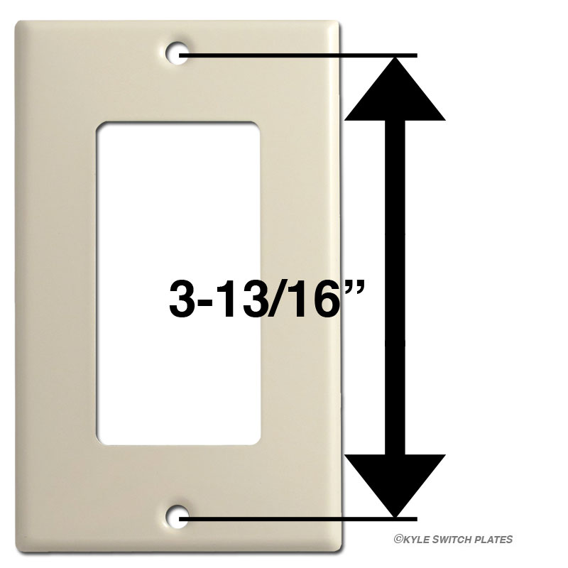 Strap mount screw placement and spacing on Decora switchplate