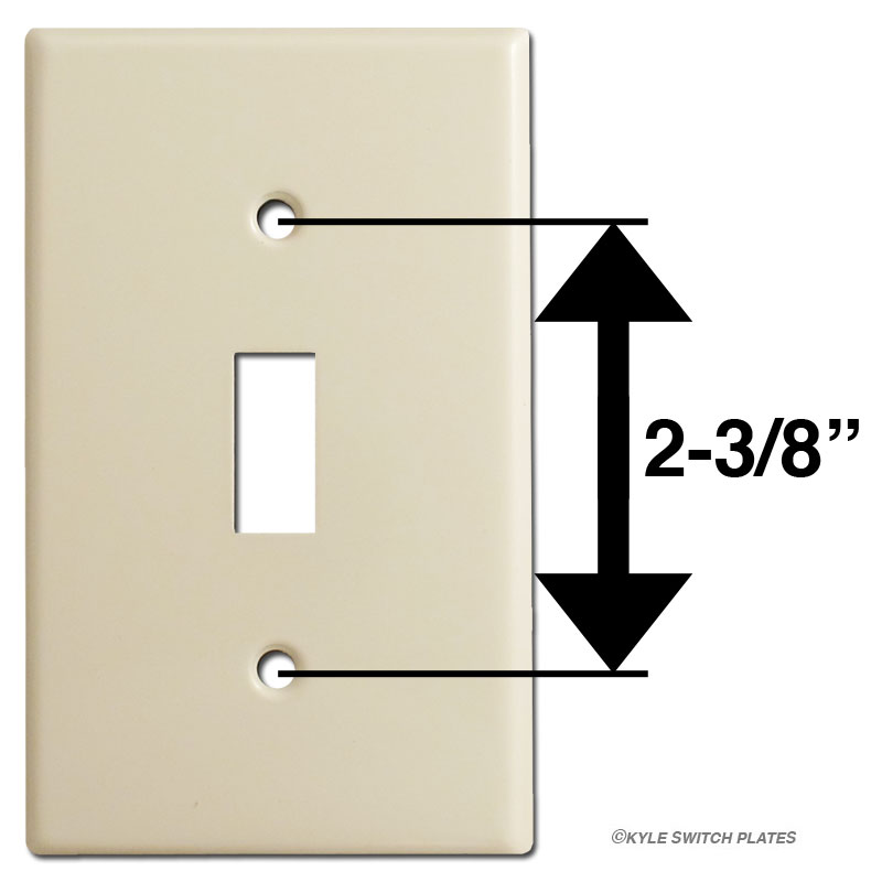 Light Switch Plate, Outlet Cover, Decora Rocker Size Chart ... on