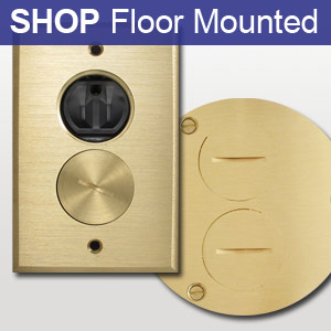 Recessed wall switch plates inset outlet plug covers for Wood floor outlet cover
