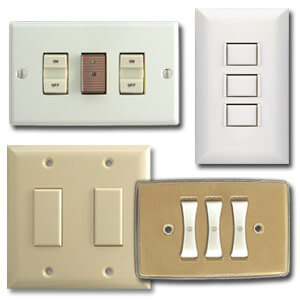 Old Style Light Switch Wall Plates For 1950s 1960s 1970s