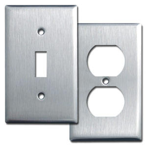 Stainless Steel Light Switch Plates Outlet Covers Rocker Switchplate