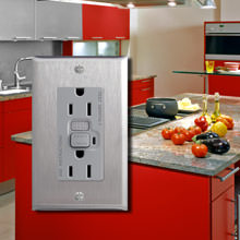 Stainless Steel Kitchen Light Switch Covers