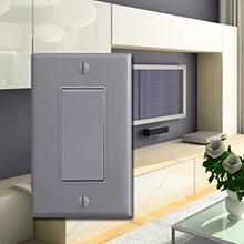 Trendy Gray Walls & Switch Plates