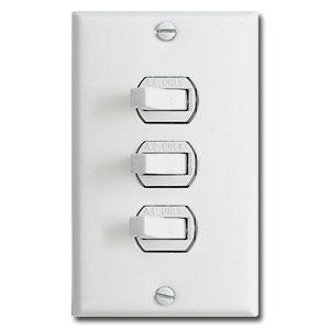 Triple Toggle Horizontal Light Switch Plates