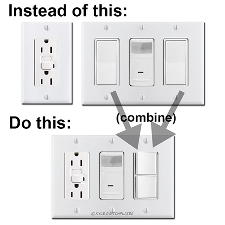 Ugly Bathroom Switch Plate Fix