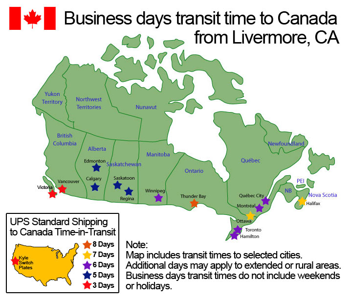 UPS Ground Transit Time to Canada