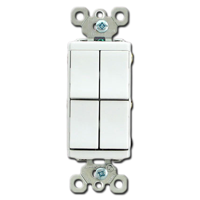 Decora Switches Rocker Light Switch Devices Electrical Switches - 4 Way Rocker Light Switch