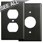 Dark Bronze Outlet Plate Covers