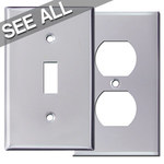 Polished Chrome Wall Plates - Best Selling Sizes