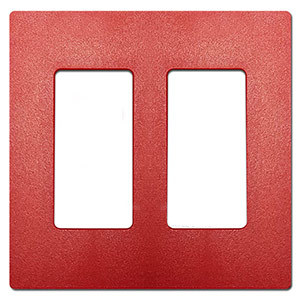 Red Plastic Light Switch & Outlet Covers