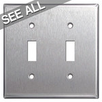 302 Stainless Steel Toggle Light Switch Plates