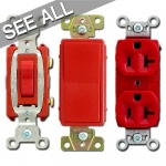 Red Electrical Outlets & Light Switches