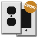Short Outlet Covers & Wall Switch Plates