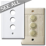 Sierra Low Voltage Push Button Switch Plates