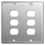 302 Stainless Steel Despard Wallplates