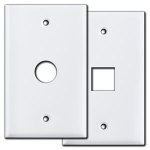 White Cable Outlet & Telephone Jack Covers