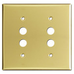 Polished Brass Push Button Switch Wall Plates