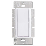 White Lutron 3-Way Rocker Switch, Preset Dimming Lever