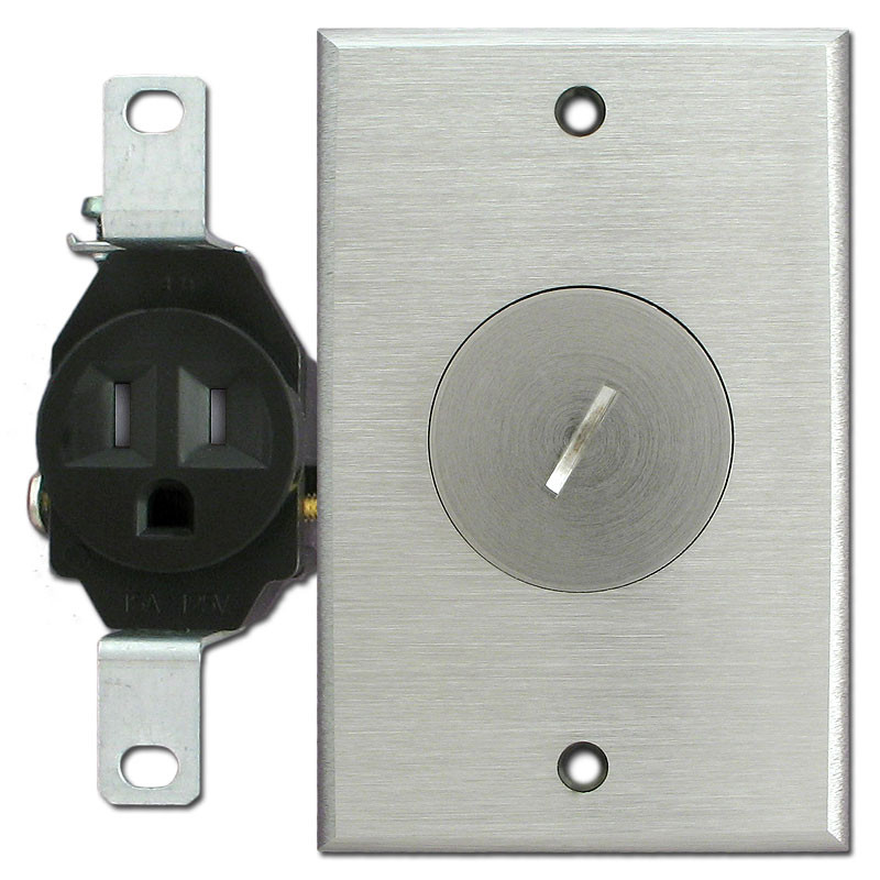 Tamper Resistant Single Receptacle Nickel Outlet Cover