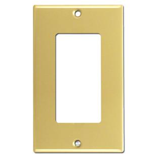 1 GFCI Rocker Switch Plate - Polished Brass