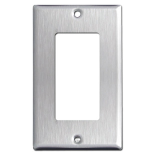 1 GFCI Rocker Switch Plate - Satin Stainless Steel