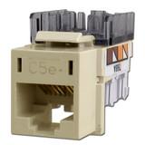 Hubbell Ivory Modular CAT5E Ethernet Jack for Frame