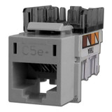 Hubbell Gray Modular CAT5E Ethernet Jack for Frame