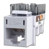 Hubbell White Modular CAT5E Ethernet Jacks for Frame