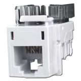 White Modular USOC Phone Jacks for Hubbell Frame