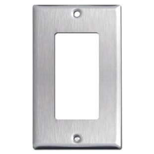 Single Decora Rocker Switch Cover - Spec Grade 302 Stainless Steel